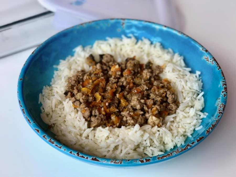 Resultado de imagen de arroz y carne