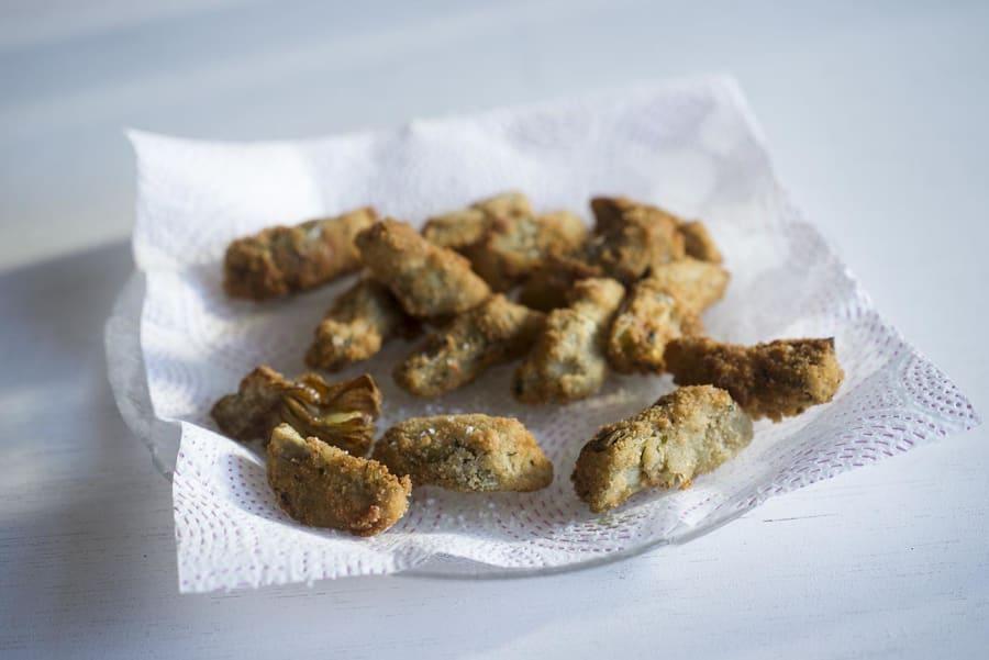 Chips De Alcachofa Rebozada