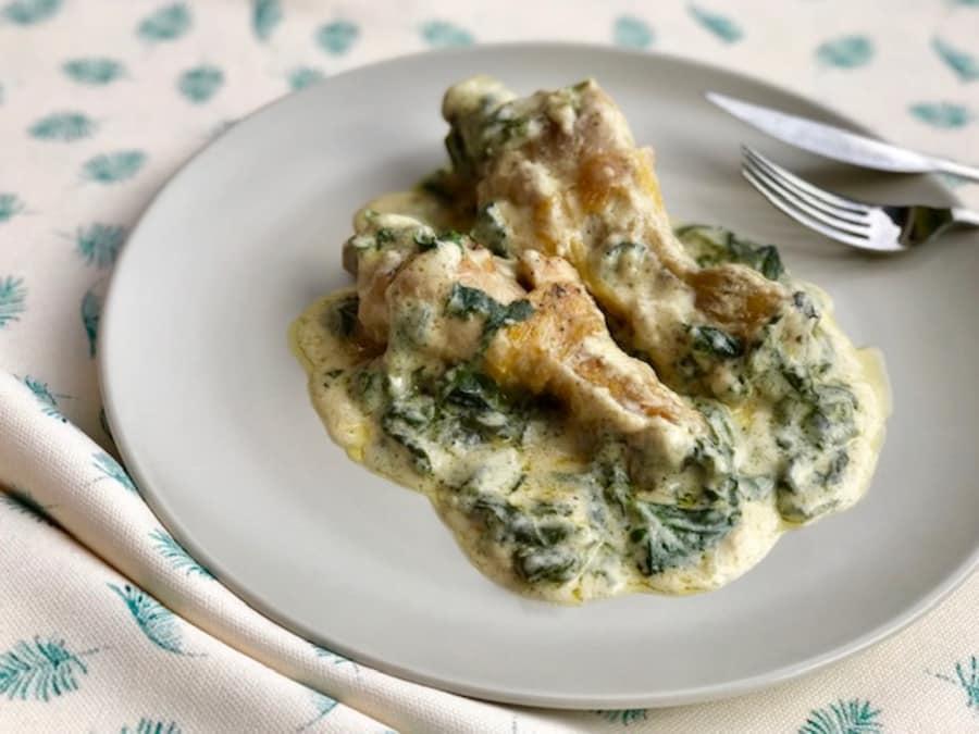 Recetas con pollo y espinacas