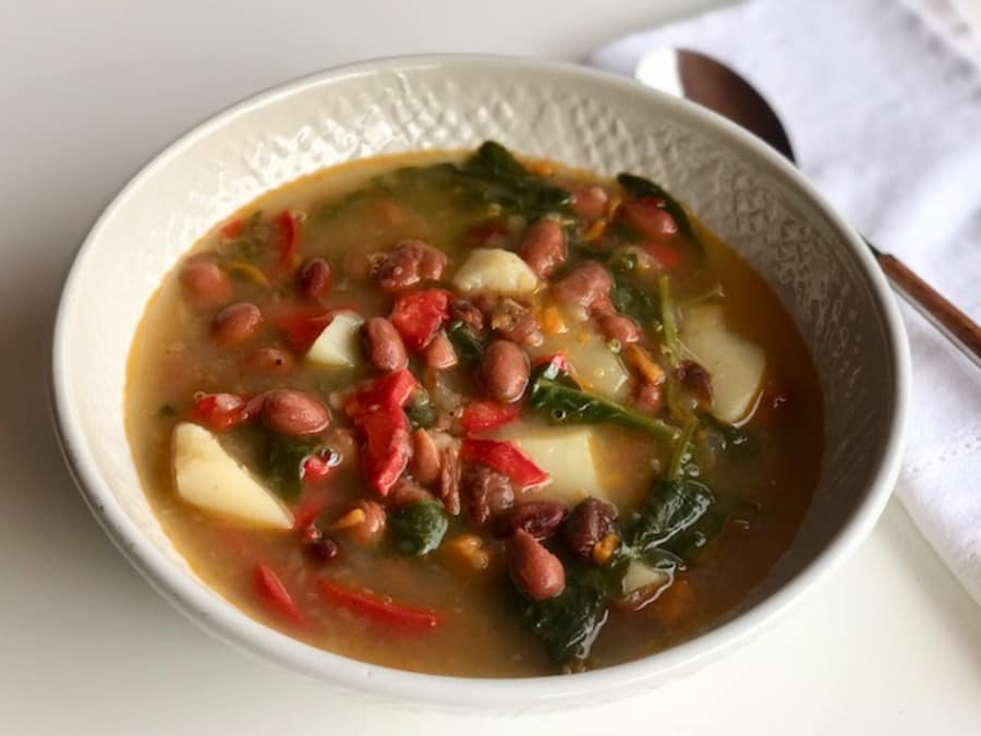 Potaje De Alubias Rojas Con Verduras