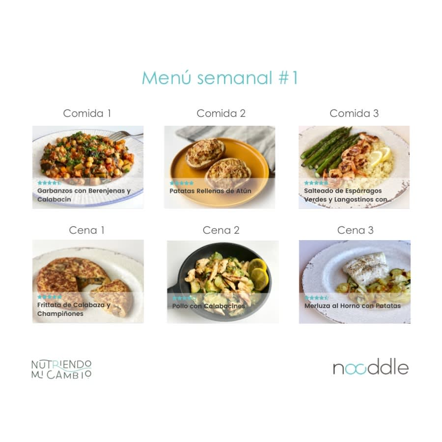 menu semanal comida sana